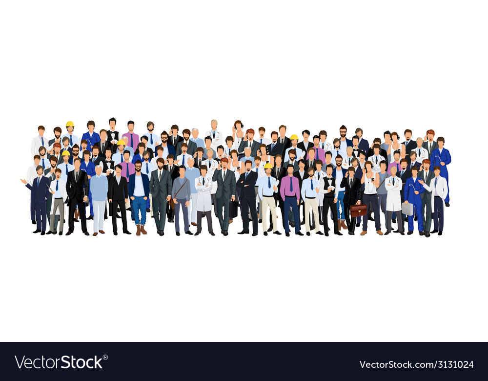 Group of man vector