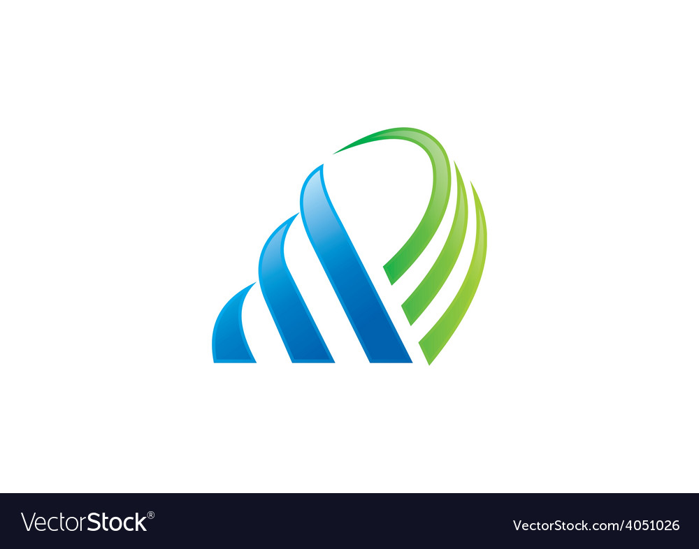 Business finance abstract logo vector