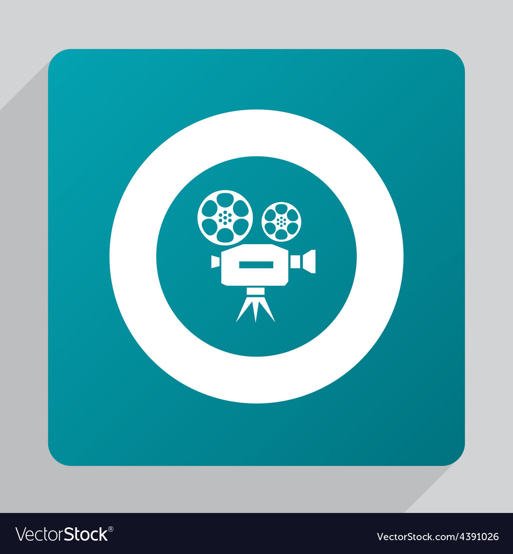 Flat video icon vector