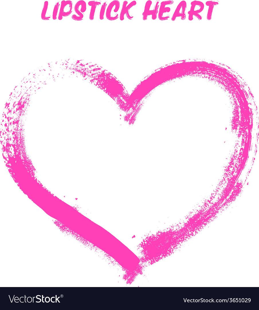 Lipstick painted heart vector