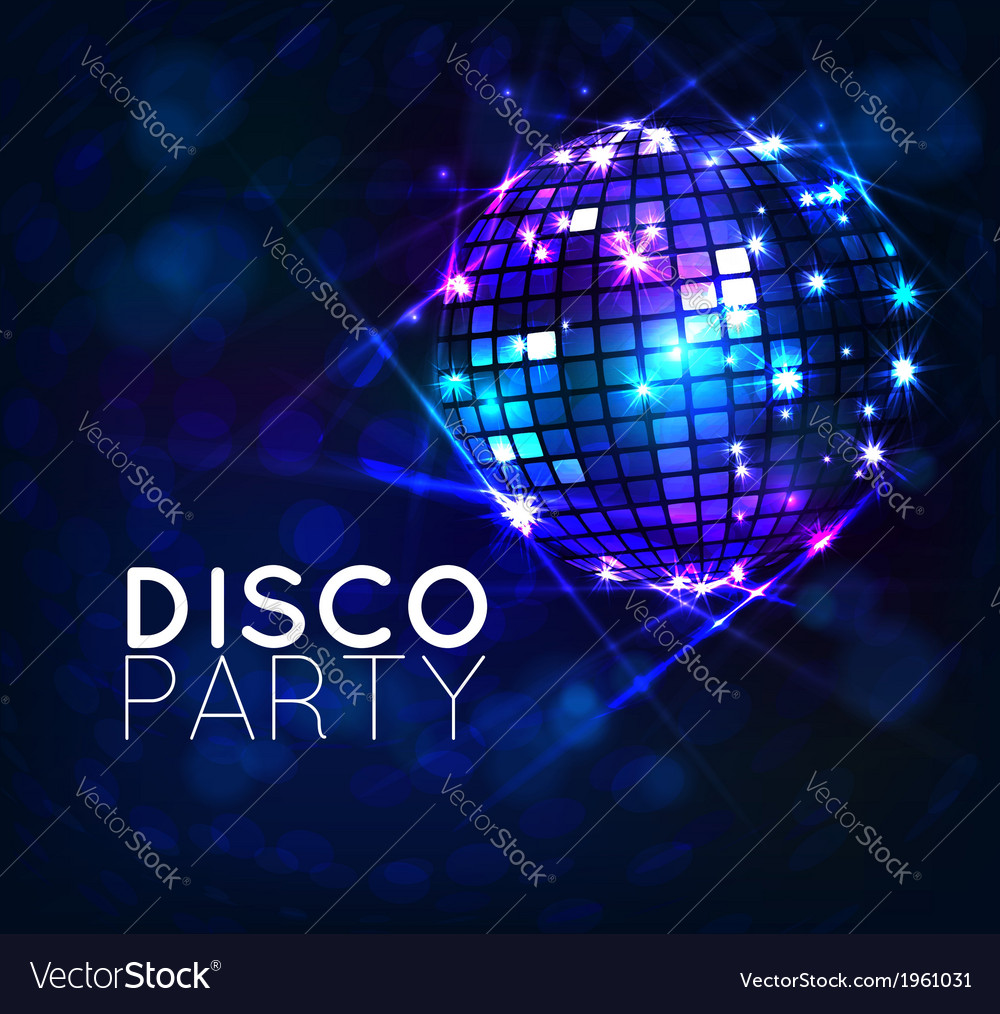 Background with disco ball vector