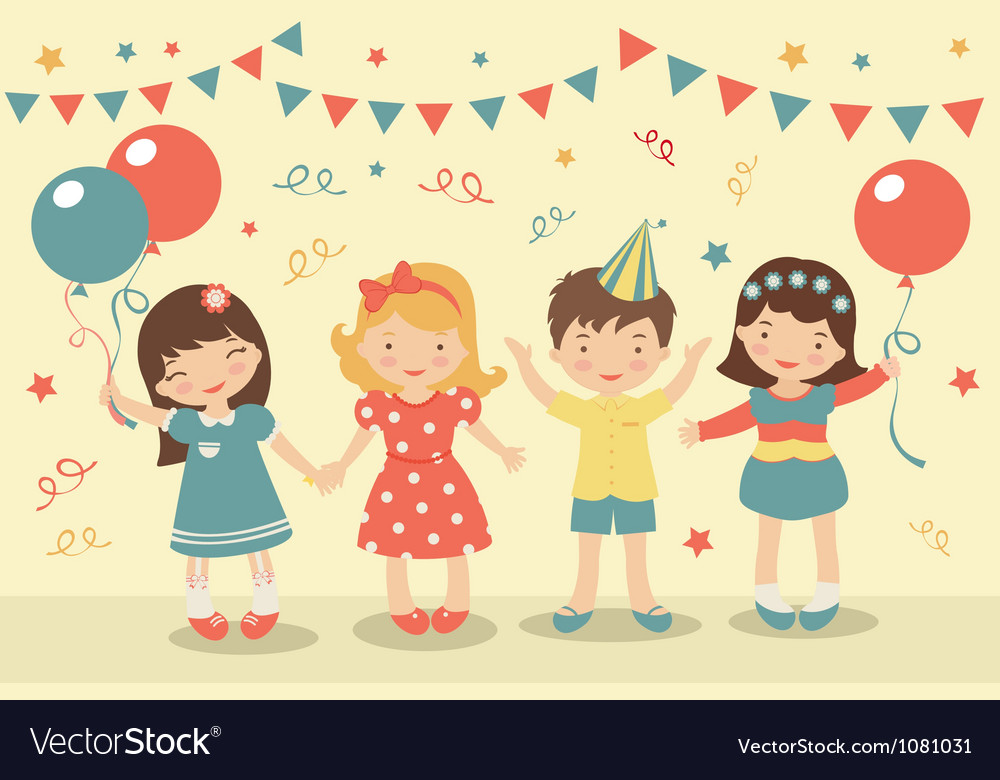 Kids party vector