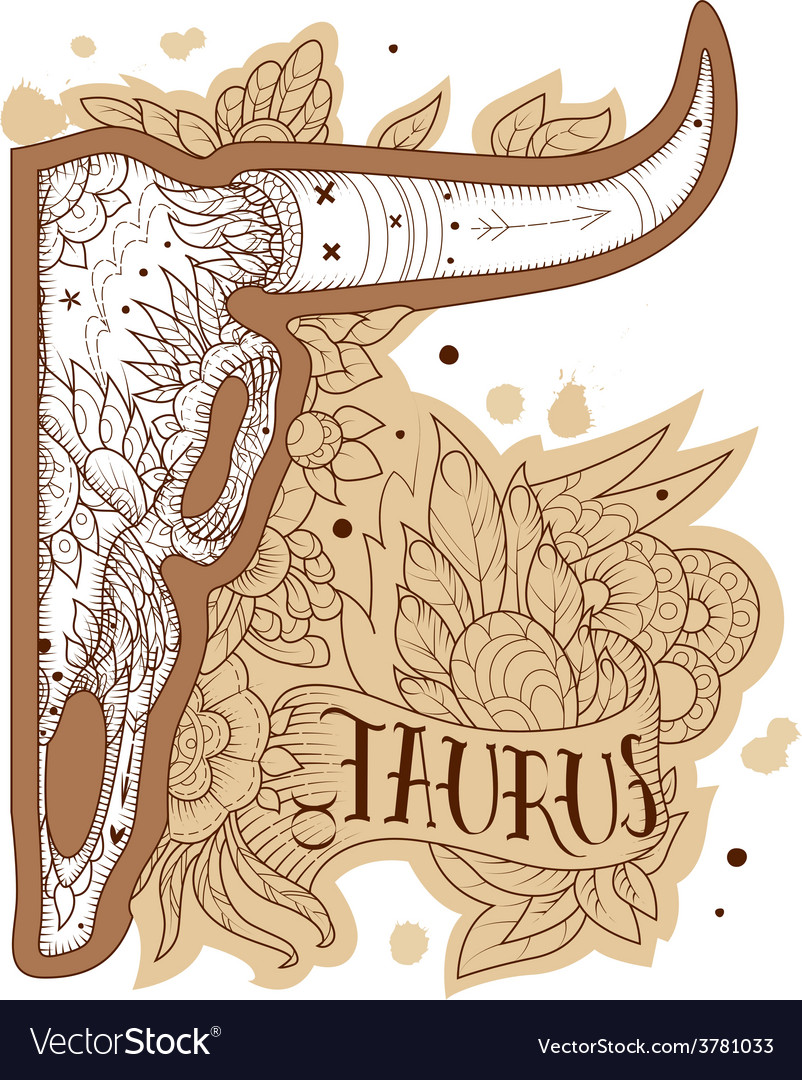 Engraving taurus vector