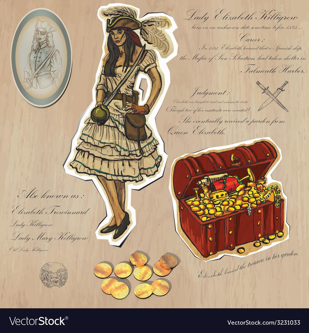 Pirates - treasure an hand drawn vector