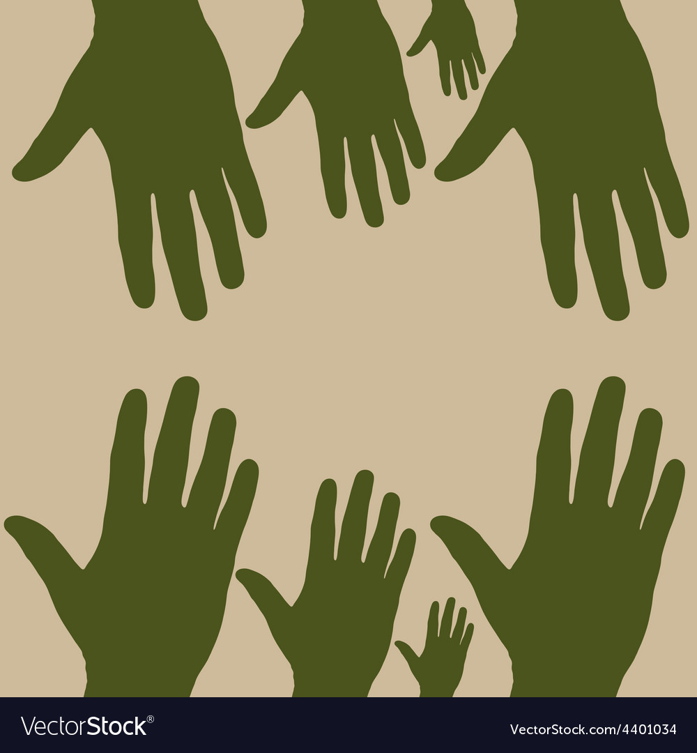 Hand to hand vector