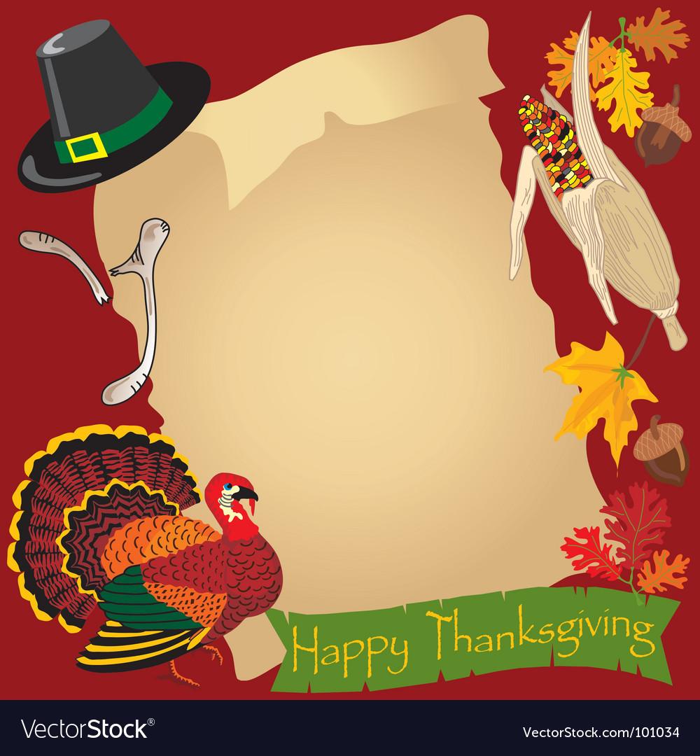 Thanksgiving day menu vector