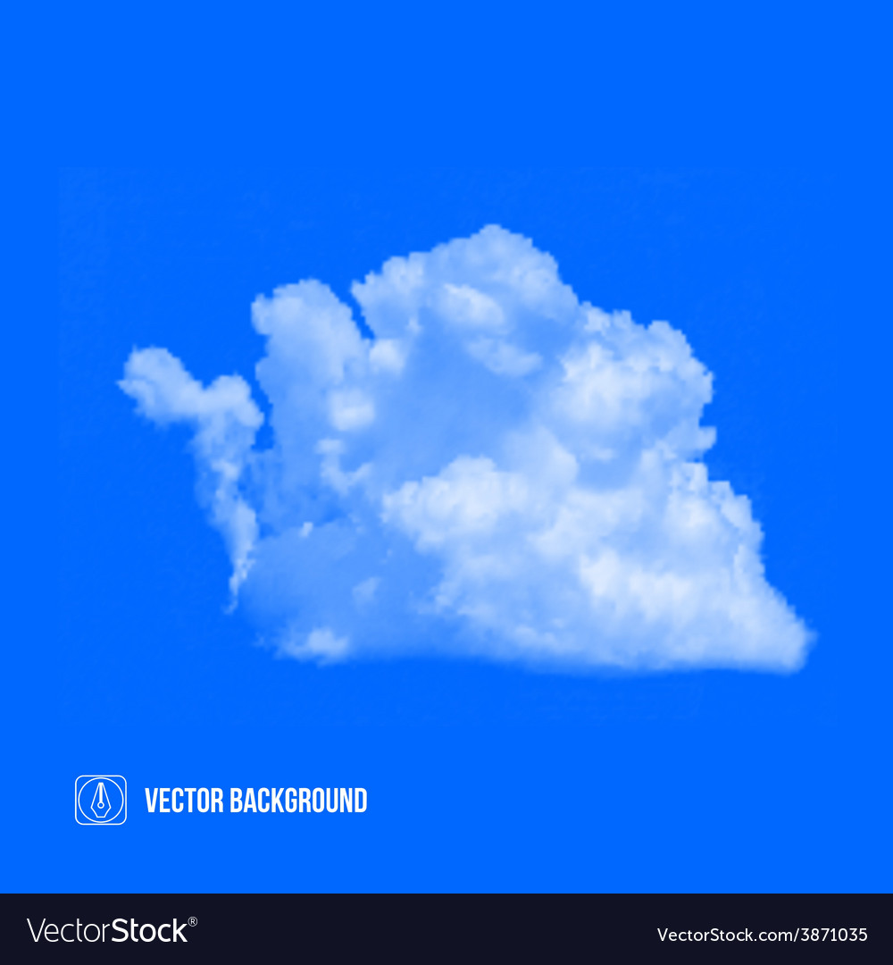 Clouds on blue sky vector