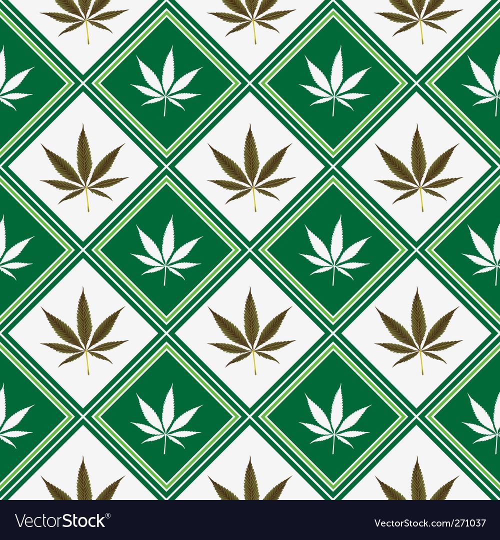 Cannabis seamless texture vector
