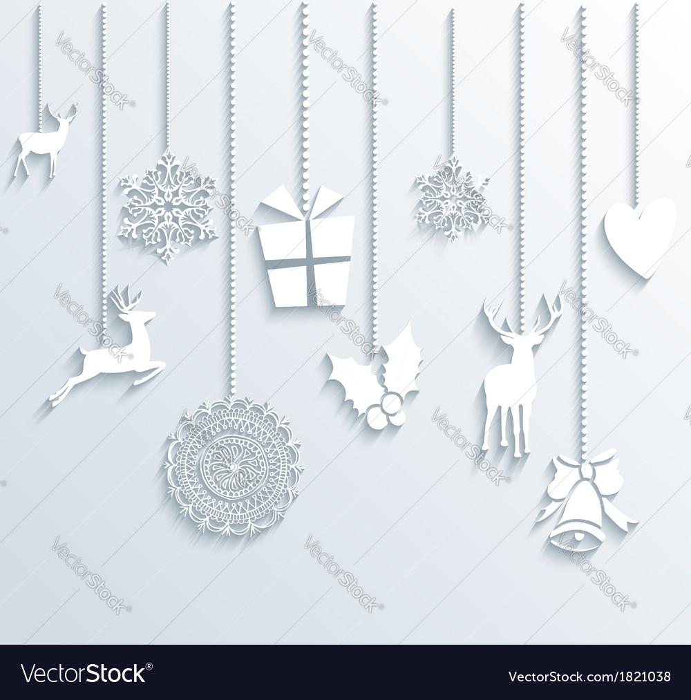 Christmas and happy new year winter season vector