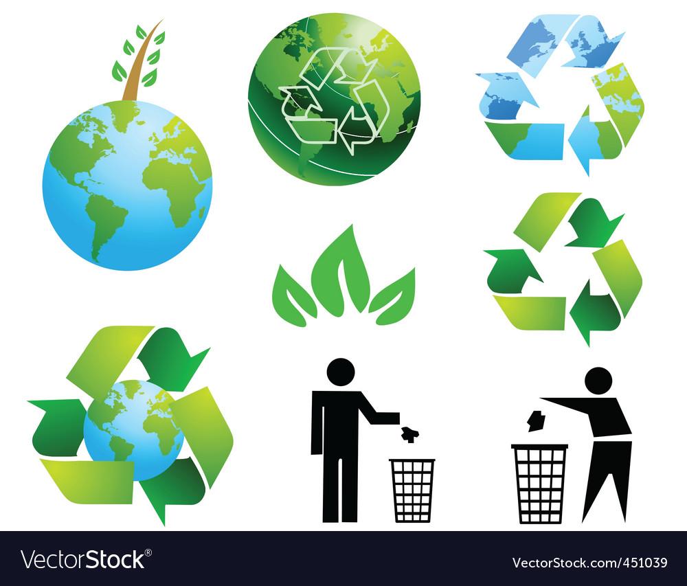 Eco environment vector
