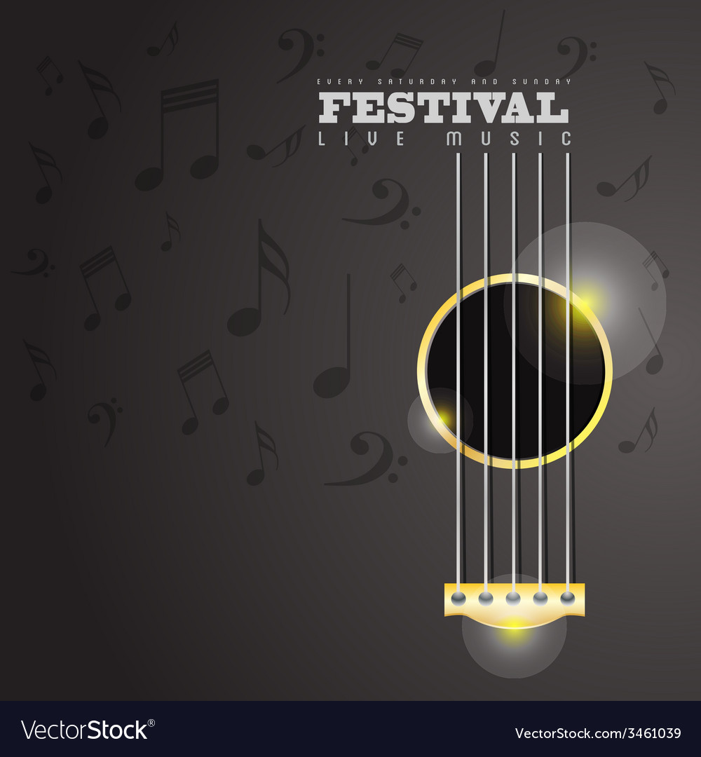Music festival poster concept vector