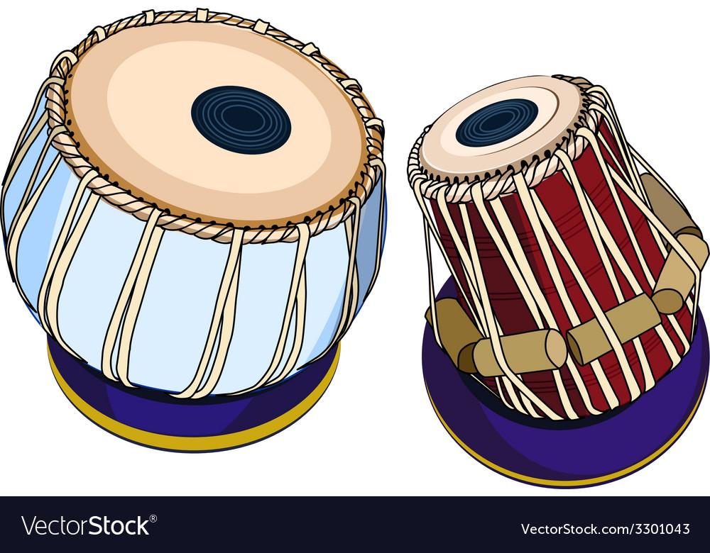 Indian musical instruments - tabla vector