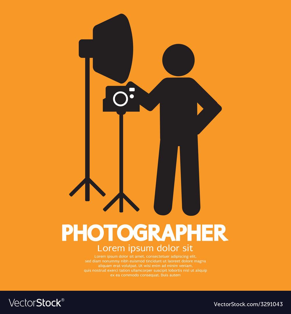Photographer graphic symbol vector
