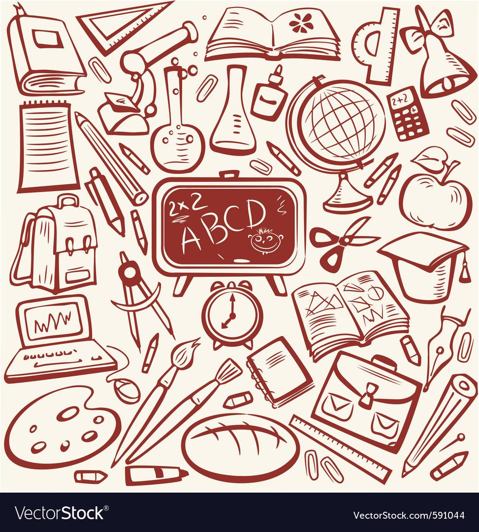 Education sketch vector