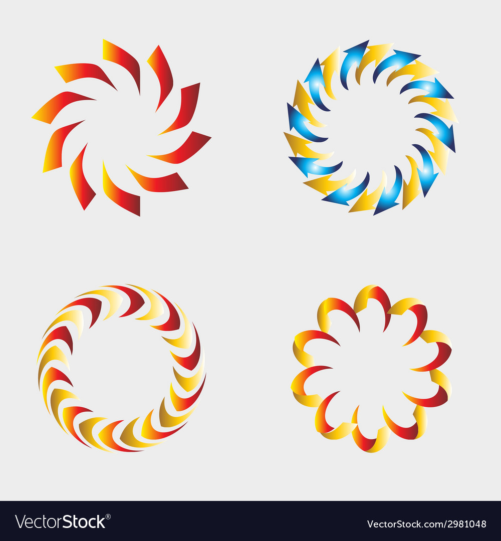 Abstract circle icon elements for design se vector