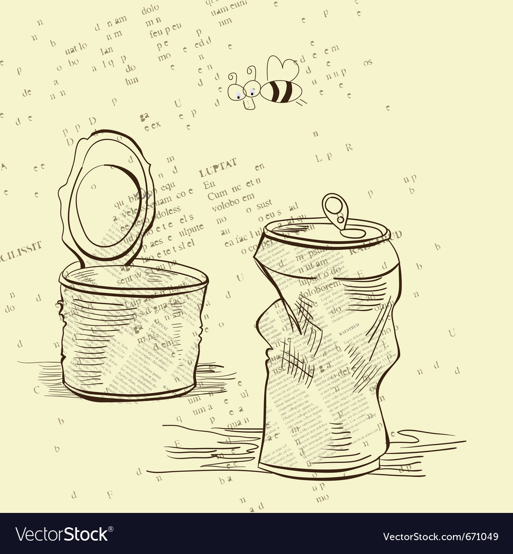 Two crumpled jars vector