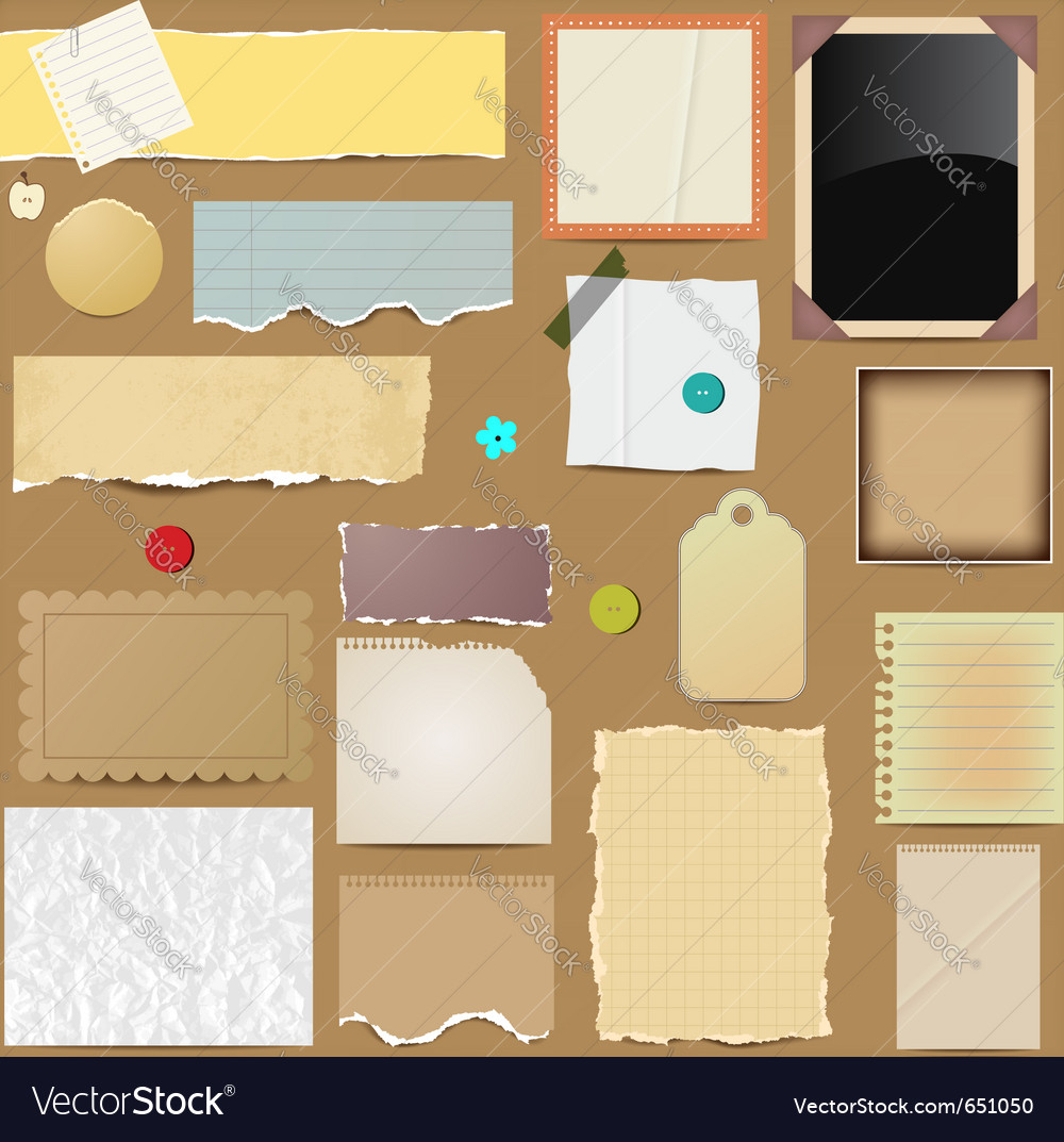 Scrapbooking paper elements vector