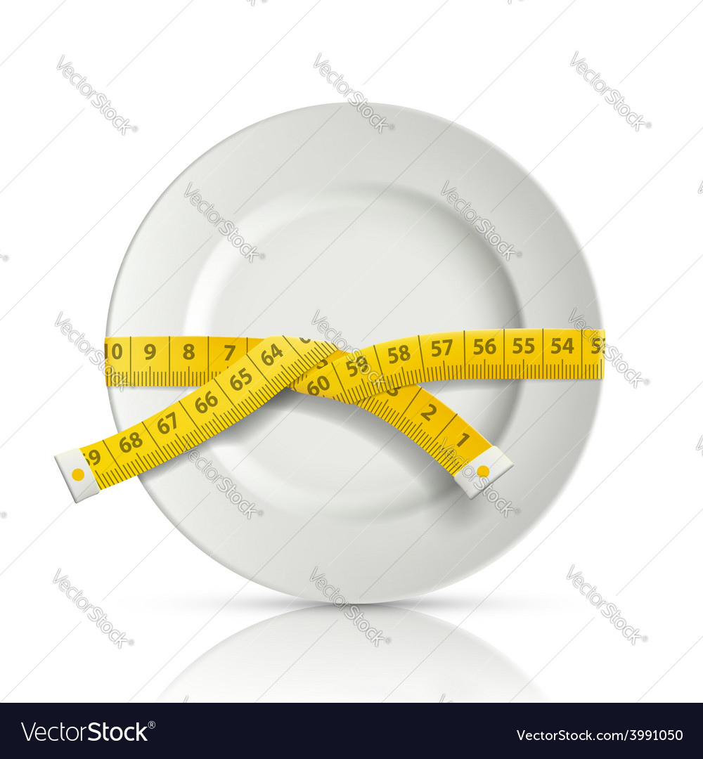 Tailor centimeter around the plate vector