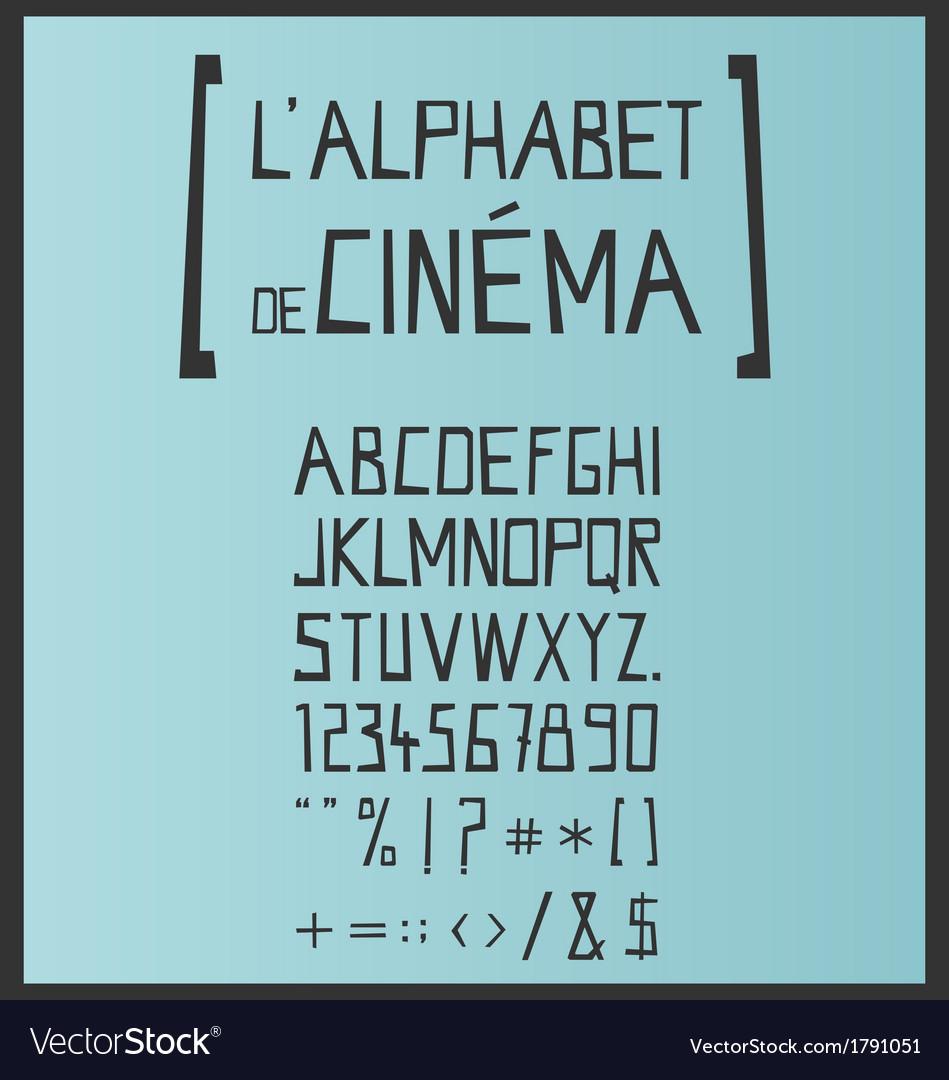 Hand drawn retro style font set vector