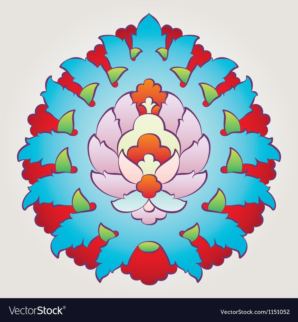 Ottoman floral motif vector