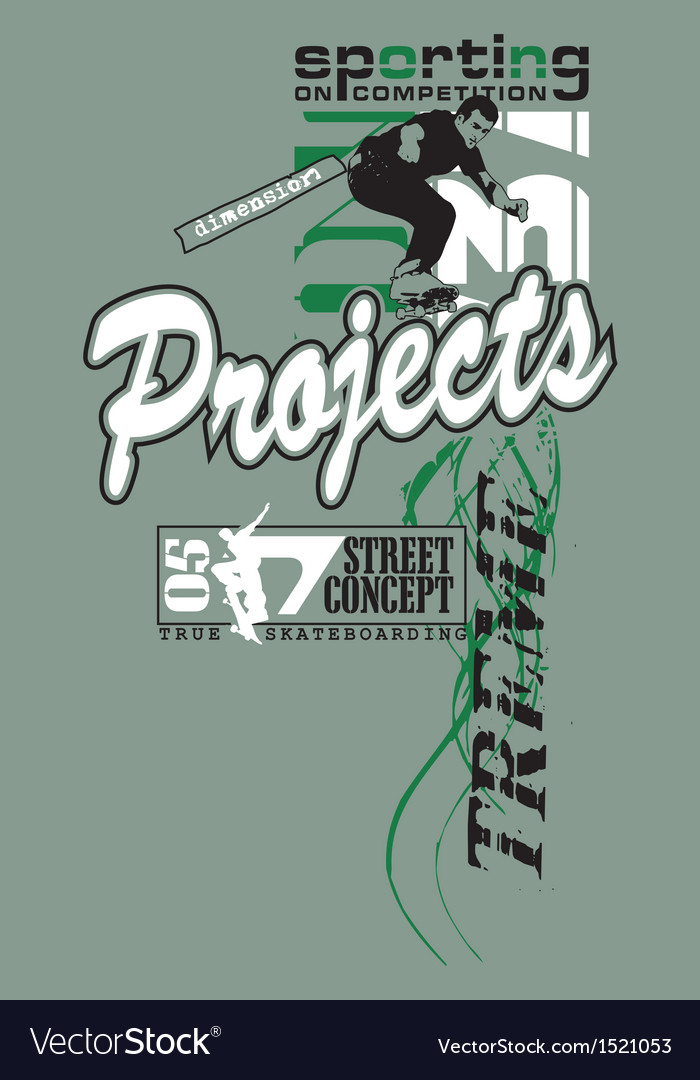 Design with a model arts projects vector