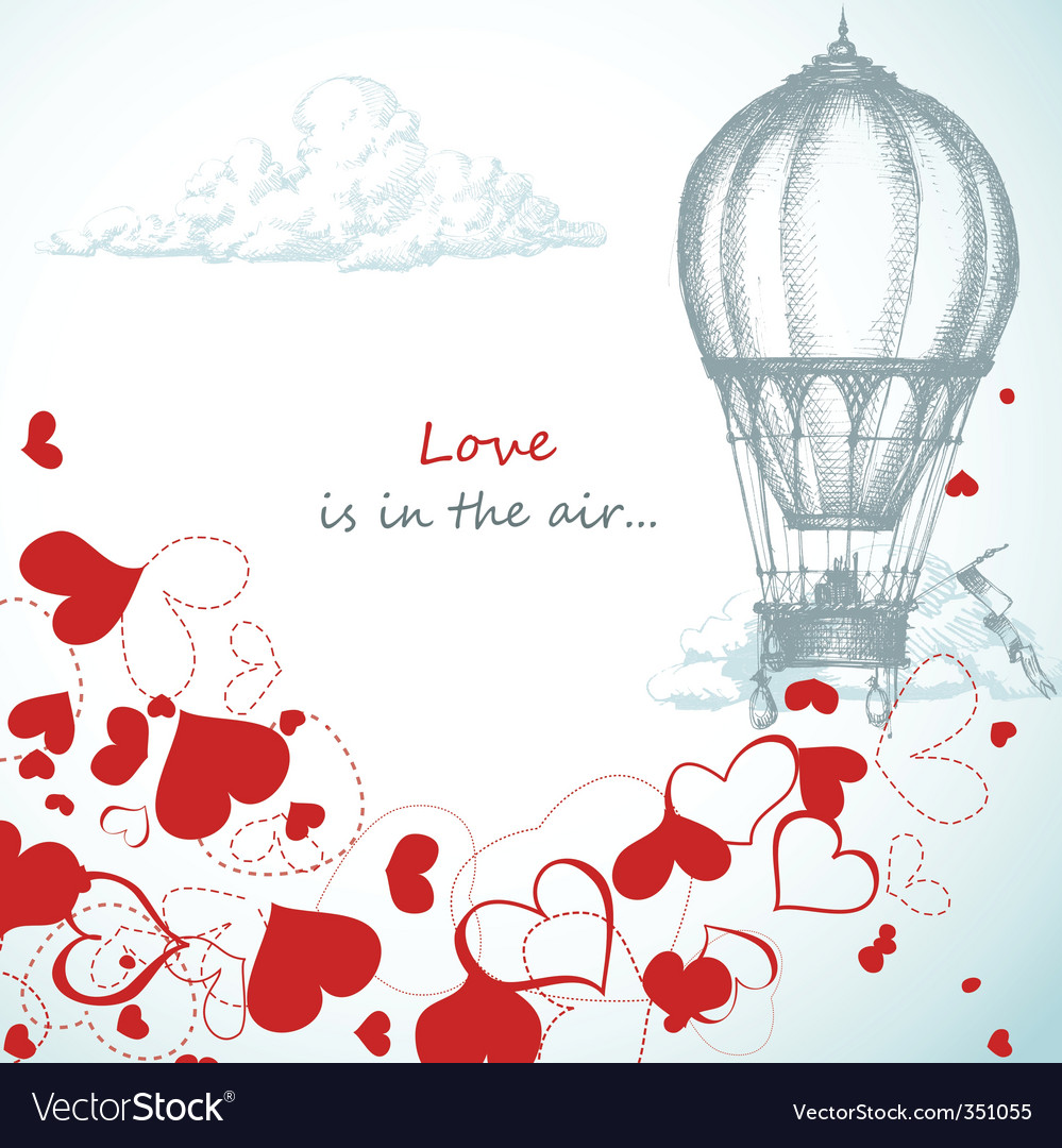 Love is in the air vector