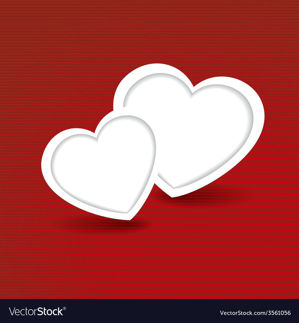 Holiday card heart from paper valentines day look vector