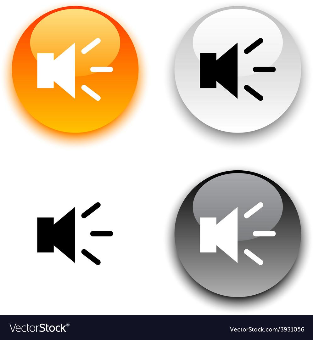 Sound button vector