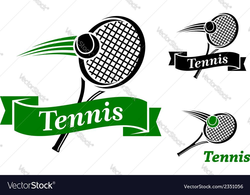 Tennis sports emblems vector