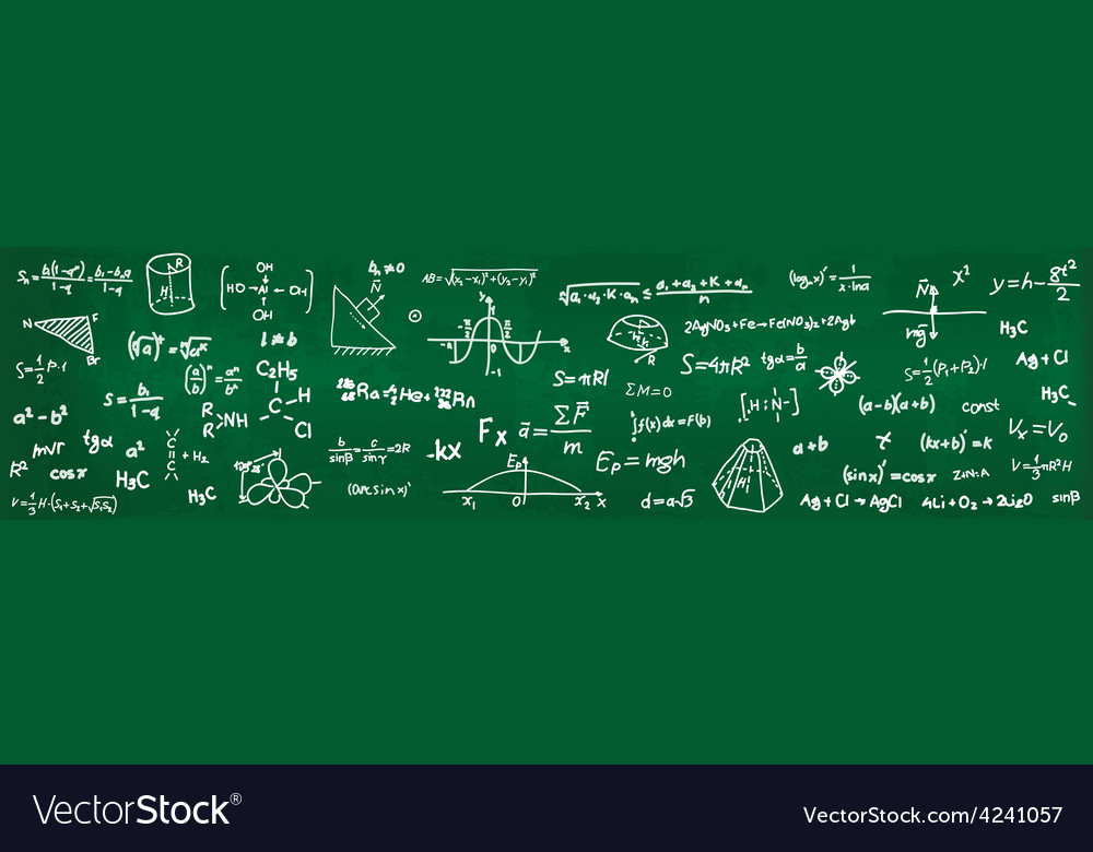 Green school chalkboard vector