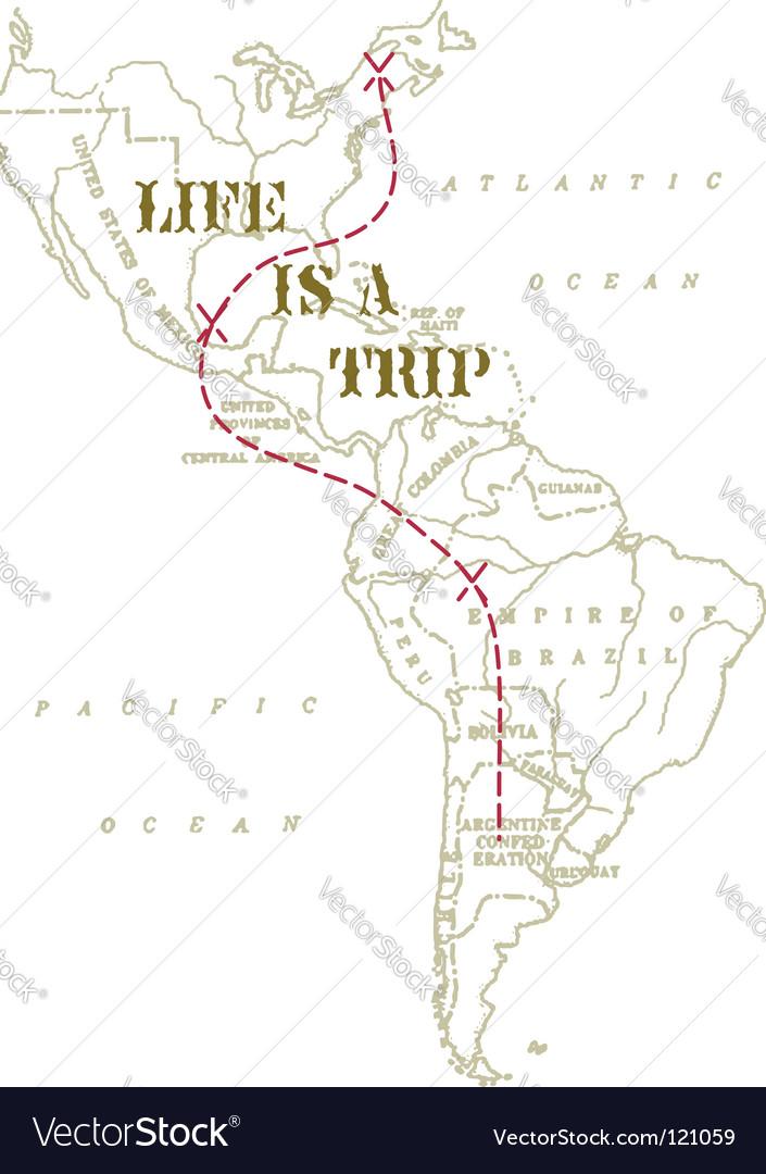 Travel across america vector