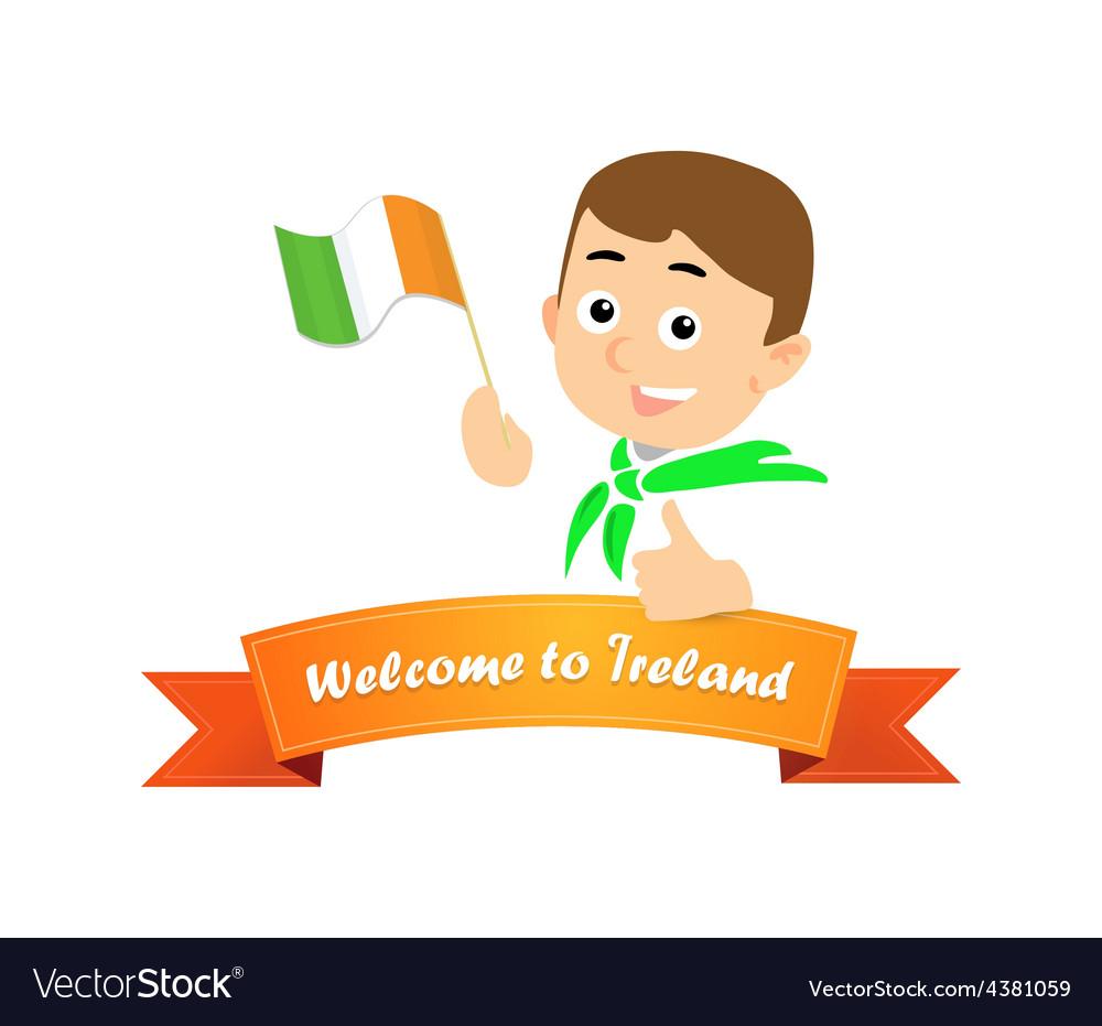 Welcome to ireland vector