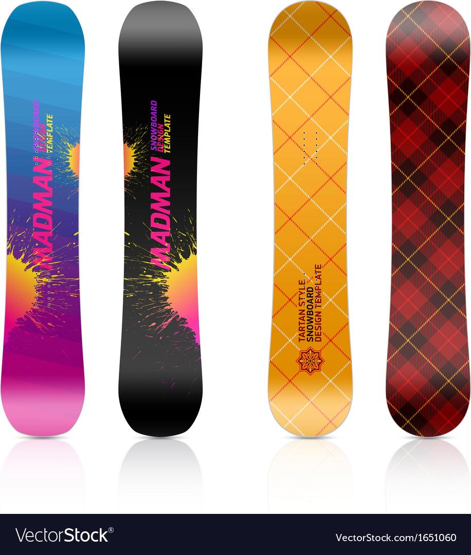 Snowboard design vector