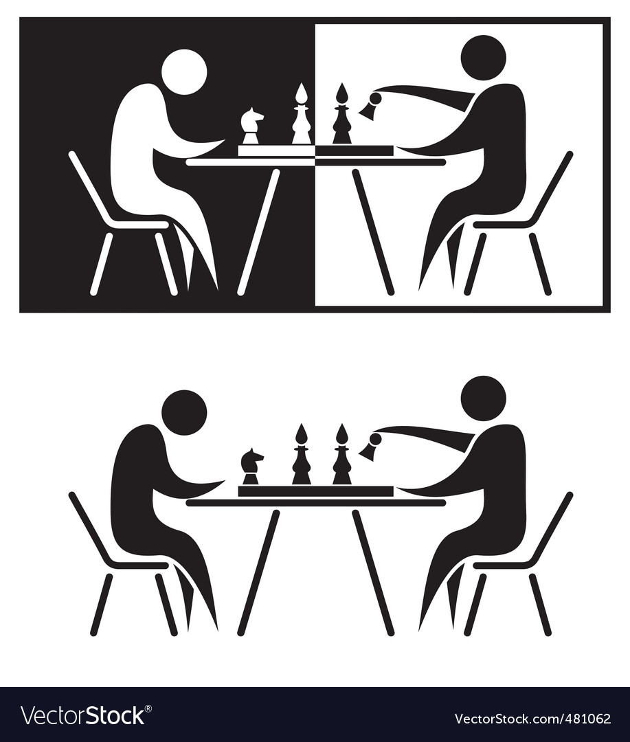 Chess players vector