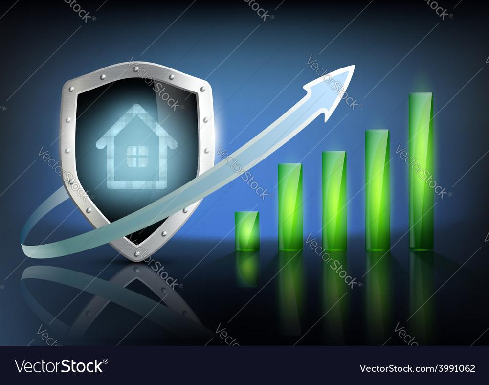 Financial graph chart vector