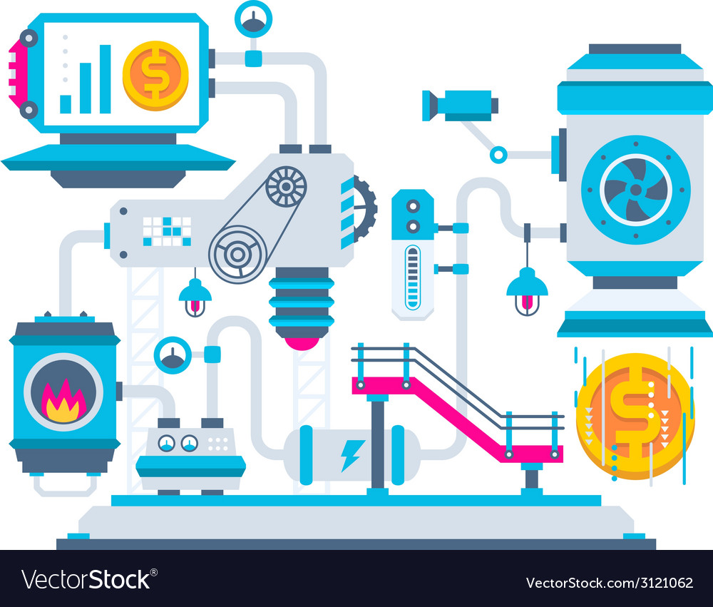 Industrial background of the factory for pro vector