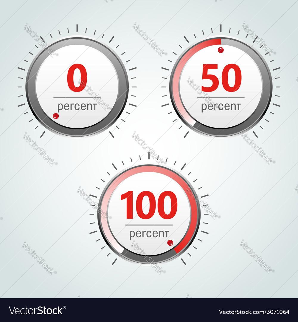 Round analog percent meter vector