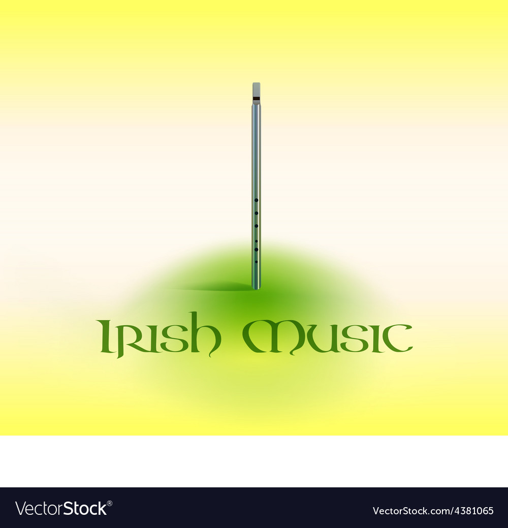 Card with tin whistle vector