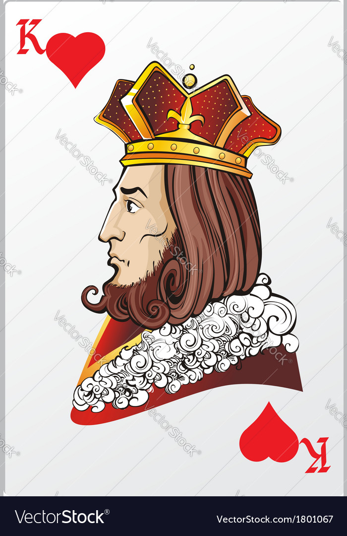 King of heart deck romantic graphics cards vector