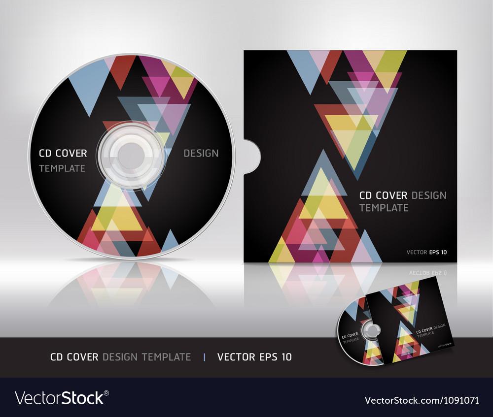 Cd cover design template vector