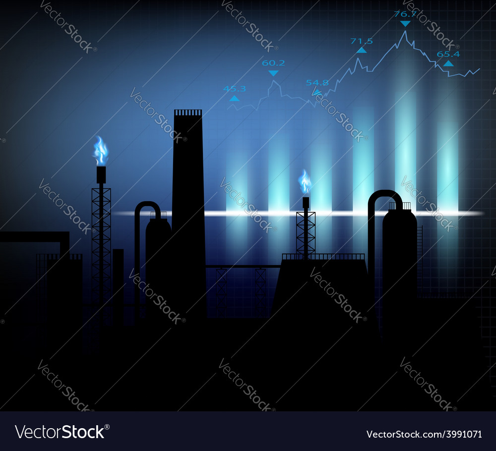 Gas production of financial graph chart vector