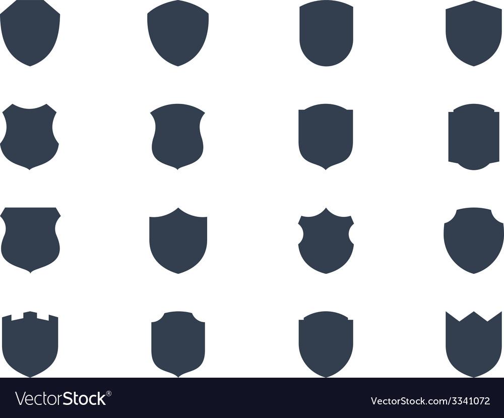 Shield shapes vector