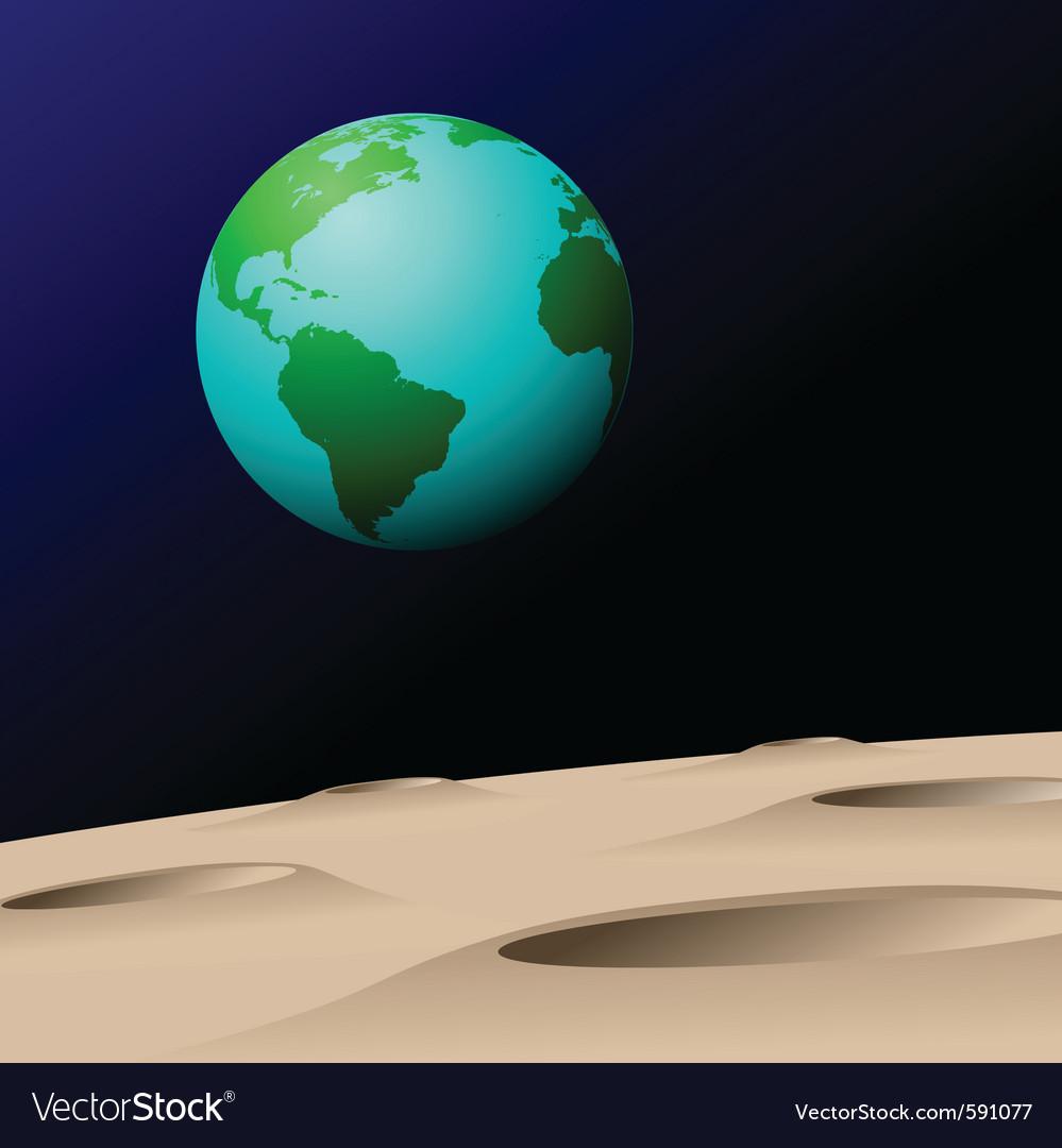 Earth from moon vector