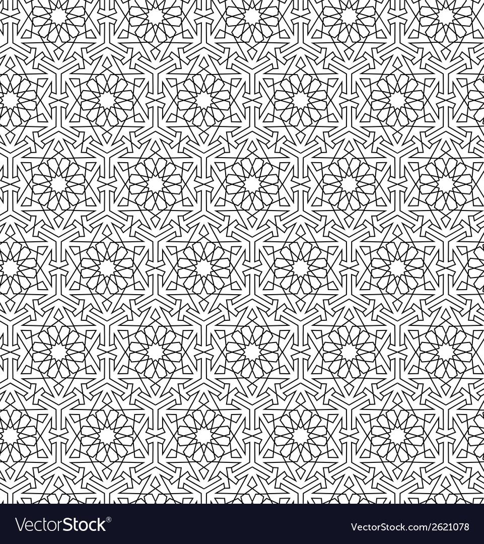 Arabian seamless net pattern vector