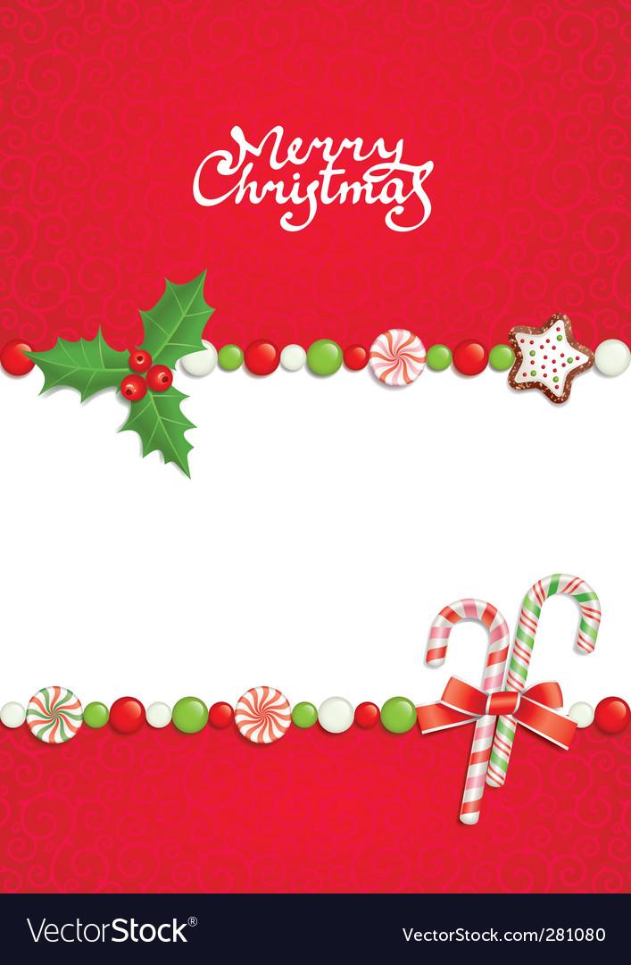 Christmas postal vector
