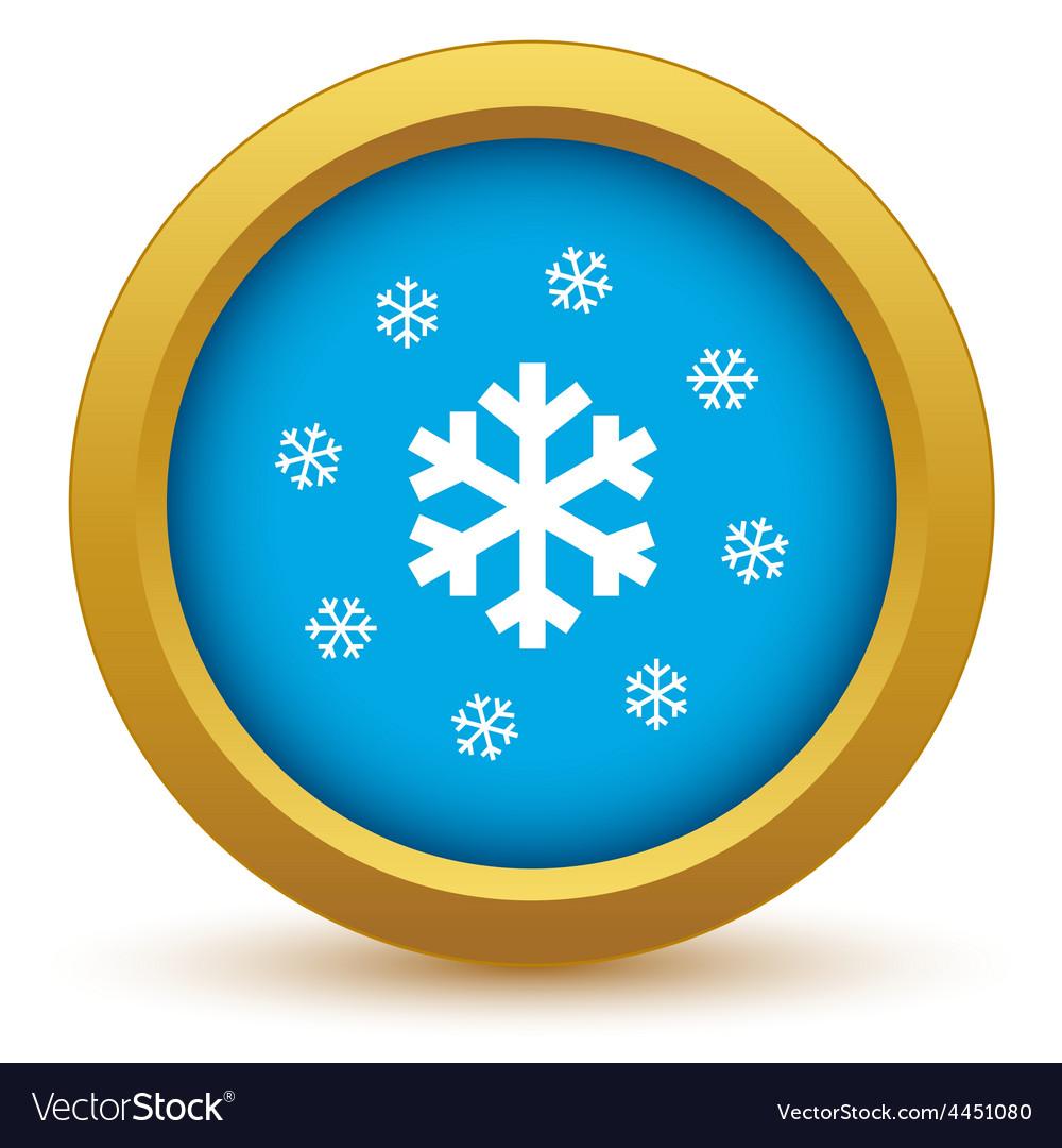 Gold snow icon vector