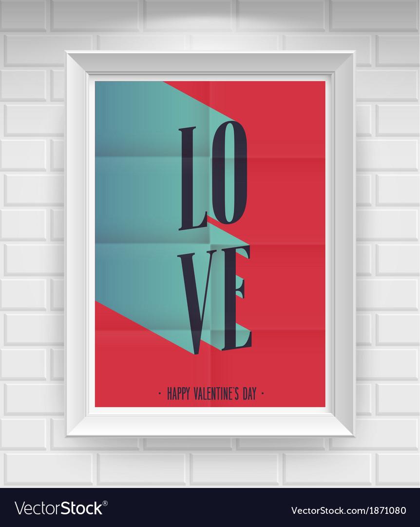 Valentine folded vector