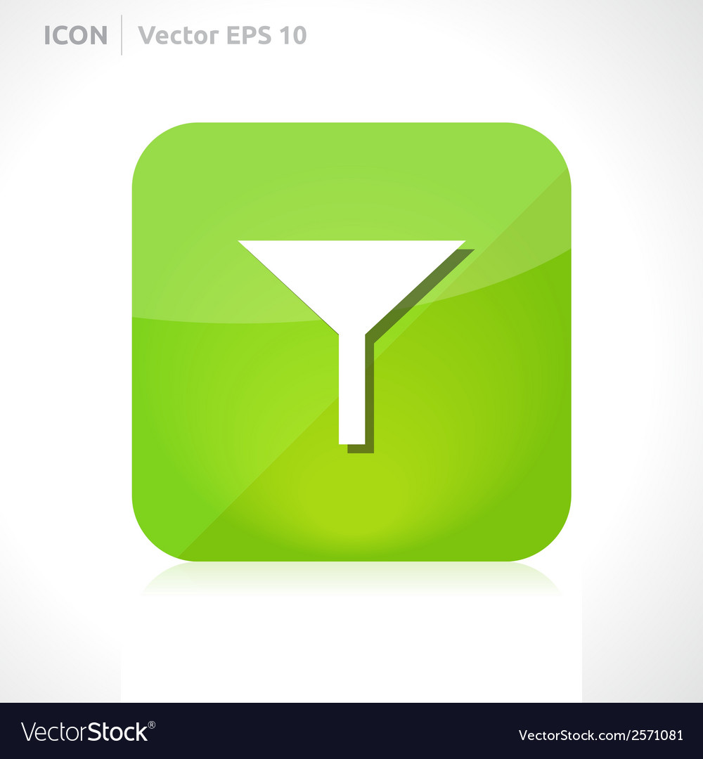 Filter icon vector