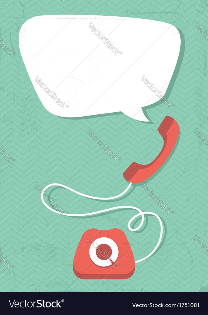 Retro phone vector