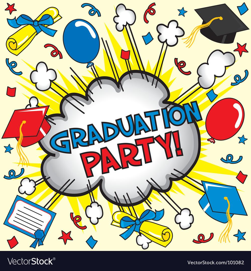Graduation party vector